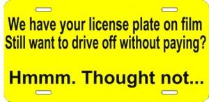 license plate white left